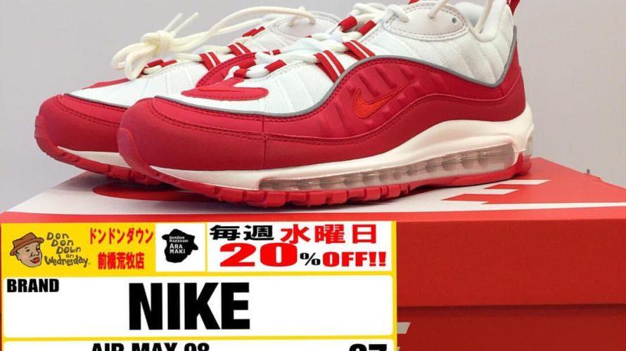 【メンズ】NIKE AIR MAX 98 University Red