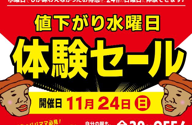 【SALE】一週間に2度値下がり!?水曜日体験セール