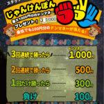 【開催中!】負けられない!?あのイベントが復活!最大1000円分のお買い物券プレゼント!!