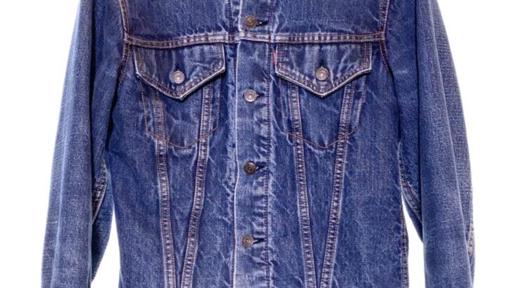 LEVI'S リーバイス 60-70s 70505-0317 BIG E ビッグE 刻印525 USA製 ブランケット付き Gジャン デニムジャケット 青 ブルー